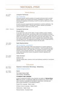 Computer Technician Resume Template by Computer Technician Resume Sles Visualcv Resume Sles Database