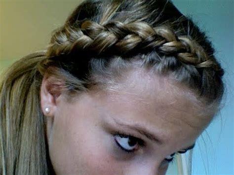 dutch braid ponytail tutorial   tasha farsaci youtube