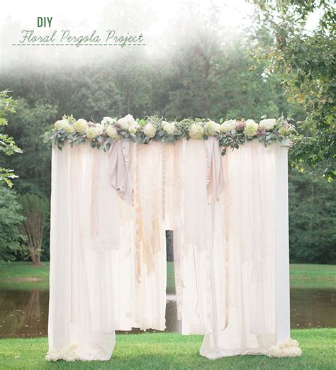 Cheap Fabric For Wedding Draping Diy Floral Pergola Project Green Wedding Shoes Wedding