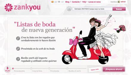 lista de regalos web de boda online wedding registry crear la lista de bodas por internet