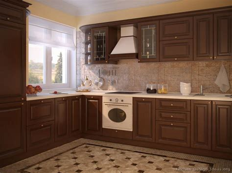 walnut kitchen cabinets pictures of kitchens traditional dark wood kitchens