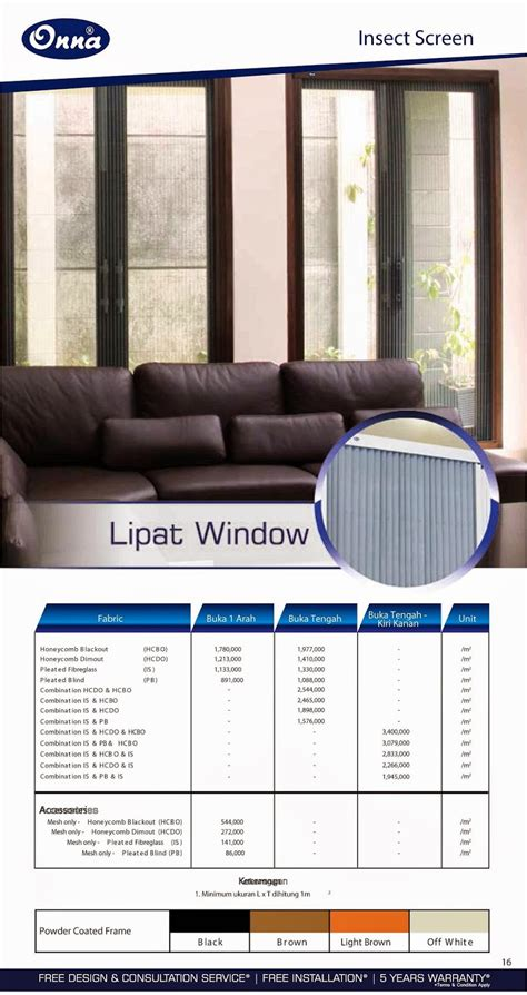 Kawat Ram Meteran onna blue lipat window insect screen gorden minimalis