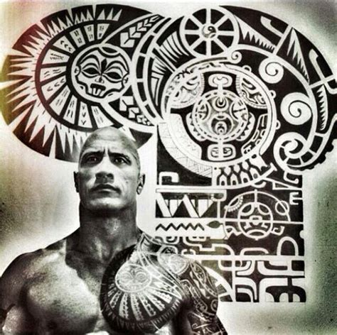 tribal tattoos like the rock the rock beautiful skin awesome