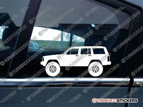 jeep cherokee sticker 2x lifted jeep cherokee xj wagoneer 1984 1996 offroad 4x4