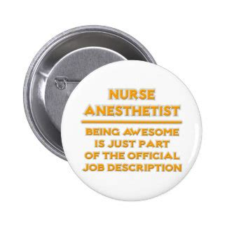 Crna Description by Certified Registered Anesthetist Buttons Pins Zazzle