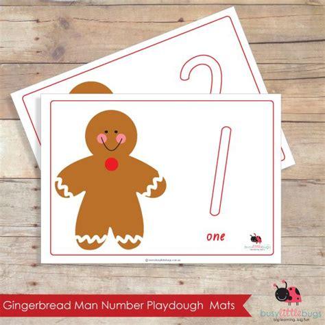 printable gingerbread man playdough mats gingerbread man number playdough learning mats njc math