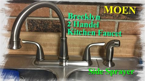 how to install a moen kitchen faucet with sprayer how to install a moen kitchen faucet with side sprayer