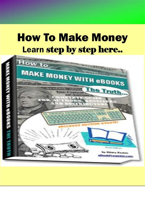 how to make money with your crafts ebook how to write and make money with ebooks