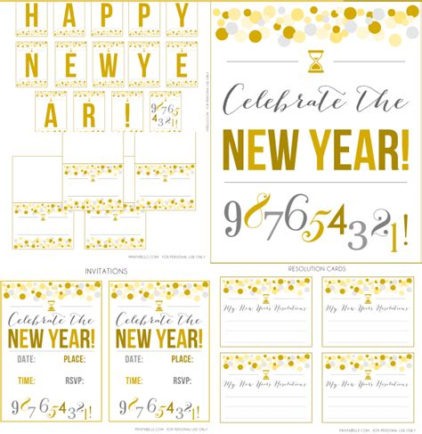 new year template printable new year photo booth free printables new calendar