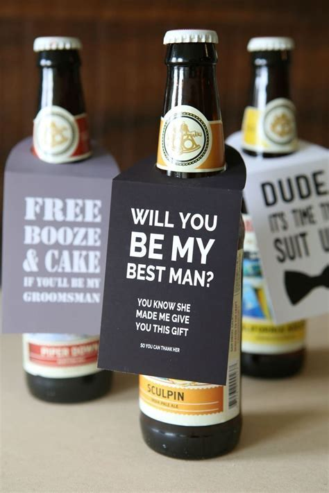 """You HAVE To See This DIY """"Will You Be My Groomsmen"""" Beer"""