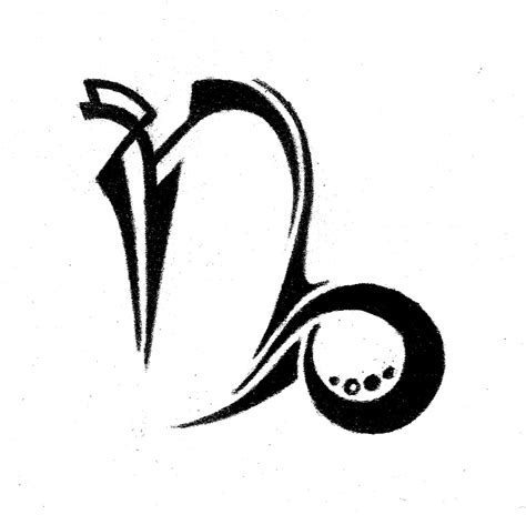 tribal capricorn symbol tattoo capricorn tattoos and designs page 72