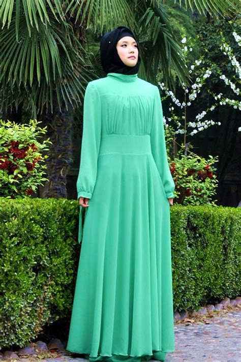 Maxi Green Muslimah i the style the abaya sleeve maxi dress