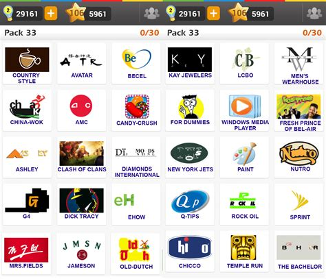 facebook logo game answers pack 5 logo game pack 3