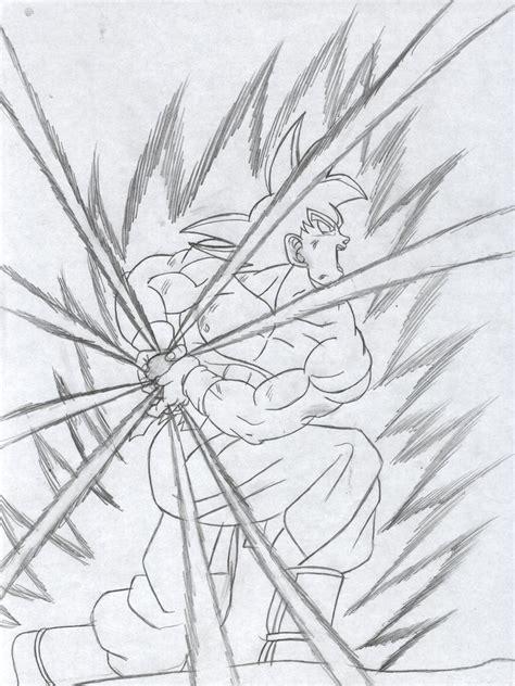 imagenes de goku haciendo el kamehameha para dibujar goku ssj2 kamehameha sketch www imgkid com the image