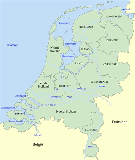 netherlands lakes map file map of the netherlands svg wikimedia commons