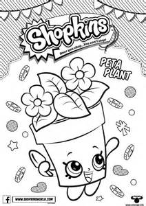 coloriage shopkins peta plant dessin 224 imprimer