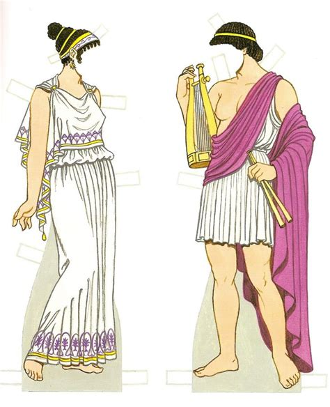 ancient greek costume history pictures showing how to recreate a ancient greek costumes paper dolls history of costume