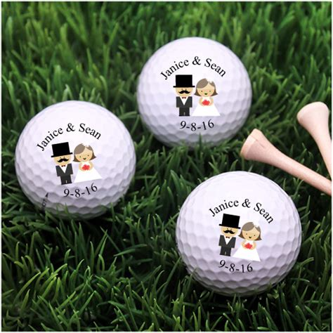 Wedding Balls by Groom Personalized Wedding Golf Balls Golf And