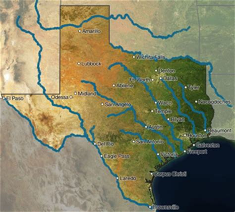 map of rivers in texas image gallery texas rivers