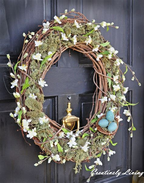 springtime wreaths spring wreath pottery barn knock off creatively living blog
