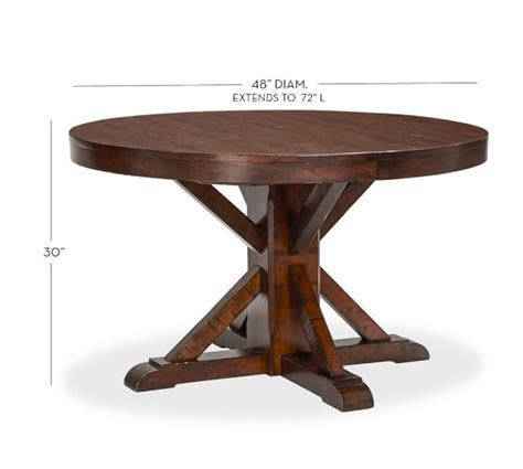 Rustic Mahogany Dining Table Benchwright Extending Pedestal Dining Table Rustic