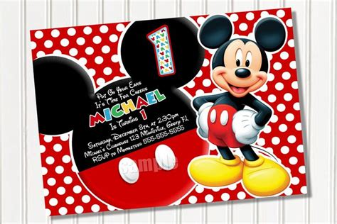 mickey mouse birthday card template free mickey mouse clubhouse invitation template free mickey