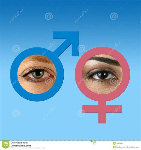 male vs female eyes male and female eyes on grad blue stock photo image 1427436