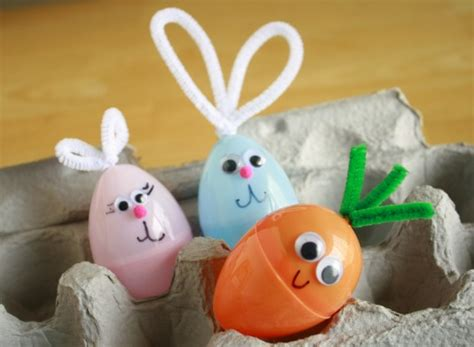 how to make easter eggs plastic easter egg bunny craft make and takes