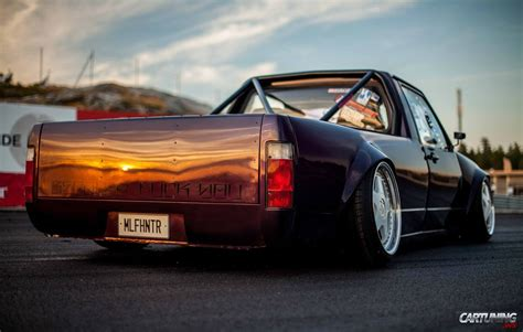 volkswagen rabbit pickup stanced stanced volkswagen golf mk1 pickup rear