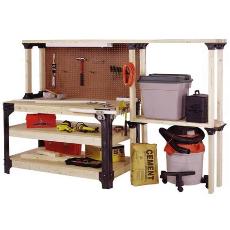 work bench kit new table workbench shelves storage kit unit shop garage