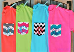 neon color t shirts neon and bright monogrammed pocket t shirt by hamiltonhall