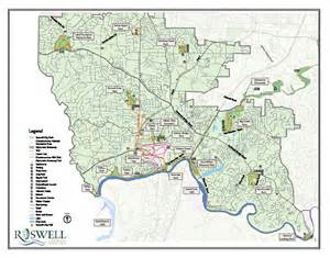 map of roswell vickery creek via south atlanta road n2backpacking