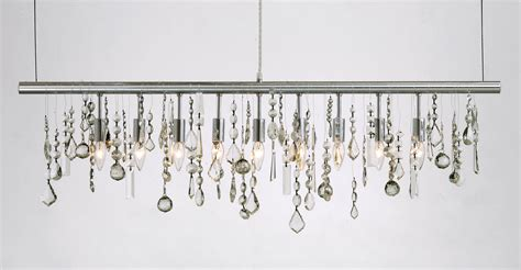 Crystal Linear Suspension By Nuevo Living Hgml158 Linear Strand Chandelier