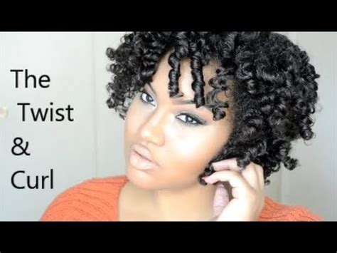 how to curl hair with twists natural hair the twist and curl no heat curls youtube