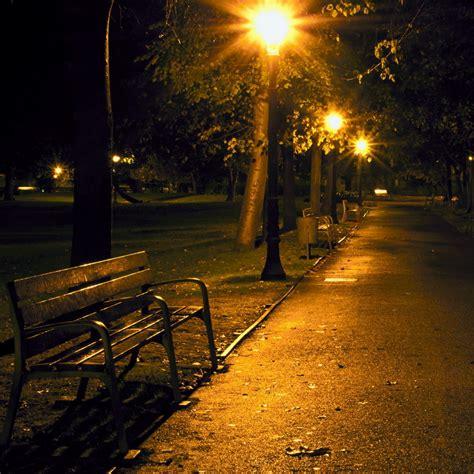 bench at night city park at night wallpaper