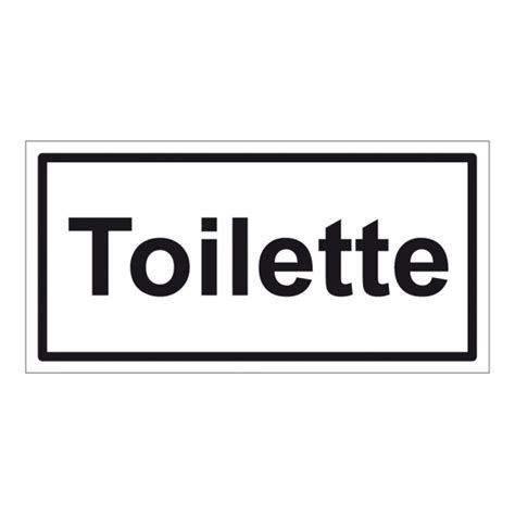 Toiletten Aufkleber Shop hinweisschild quot toilette quot aufkleber folie selbstklebend