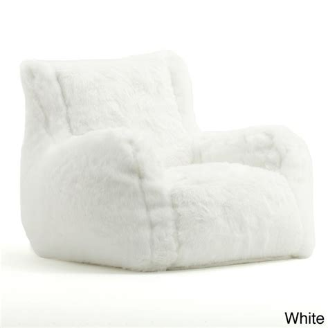 big joe plush bean bag chair beansack big joe lusso faux fur bean bag chair by big joe