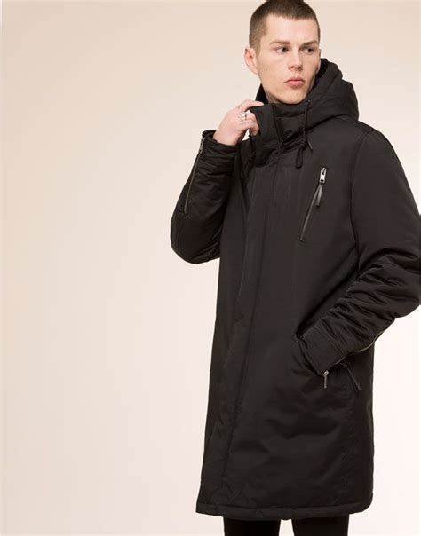 Pull And Anorak Quilted Jacket Black pull jackets hooded parka black s fashion and