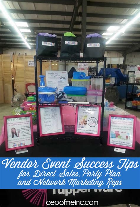 vendor event success tips for direct sales home