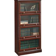 Sauder Barrister Bookcase Bookcases Sauder Roanoke Barrister Bookcase Classic Cherry Finish Sauder 4724 105 Staples