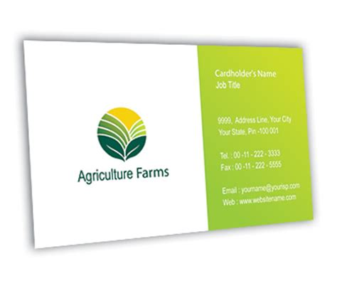 agriculture business card templates free business card design for agricultural farm offset or