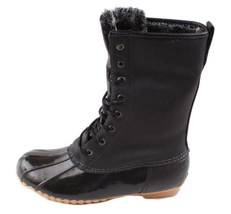 sporto delinda womens black leather waterproof boots ebay