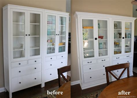 making ikea cabinets look built in ikea built ins living room pinterest ikea hemnes