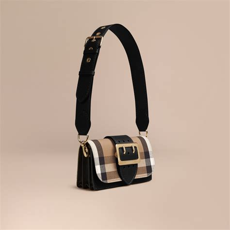 Buckle Bag the small buckle bag in house check and leather black