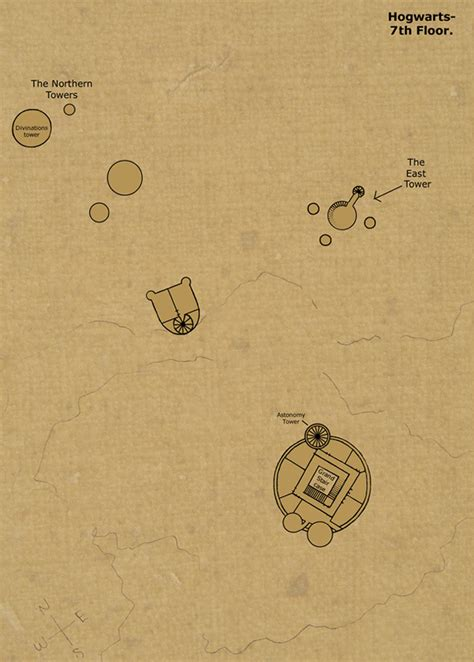 Map Of Hogwarts Castle All Floors by 7th Floor By Hogwarts Castle On Deviantart