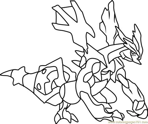 pokemon coloring pages black kyurem kyurem pokemon coloring page free pok 233 mon coloring pages