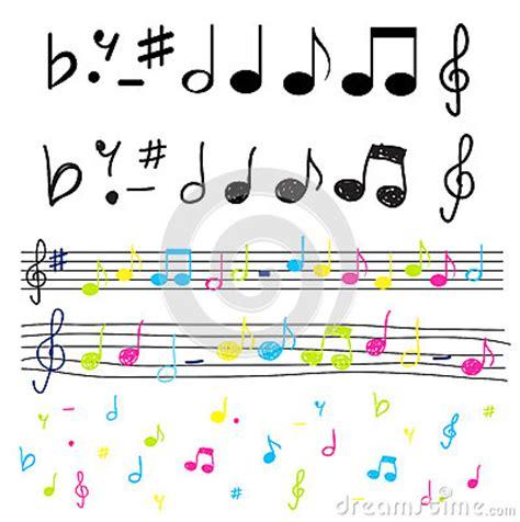 imagenes siluetas musicales notas musicales coloridas e illu del vector de las