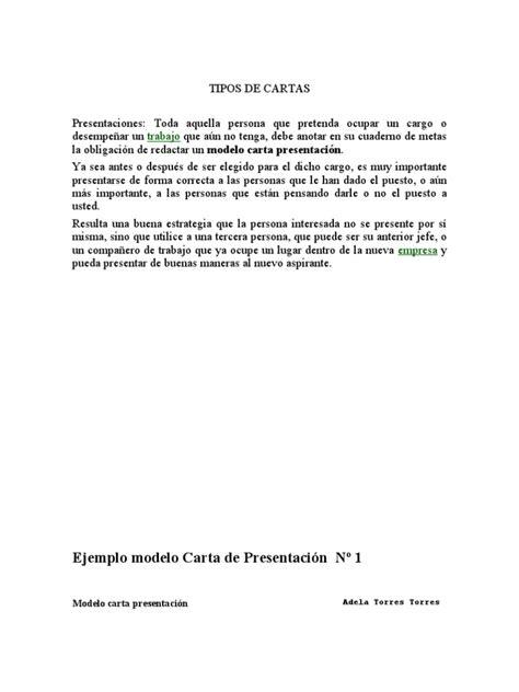 Modelo Curriculum Suiza Tipos De Cartas