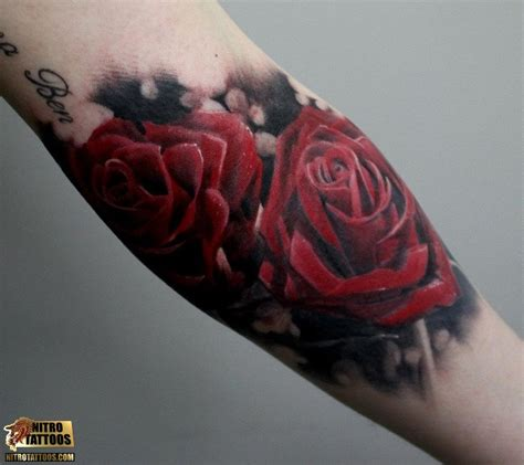 white and red rose tattoo 24 images pictures and ideas