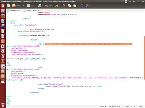 membuat desain tulisan online anita wardani membuat desain login melalui html